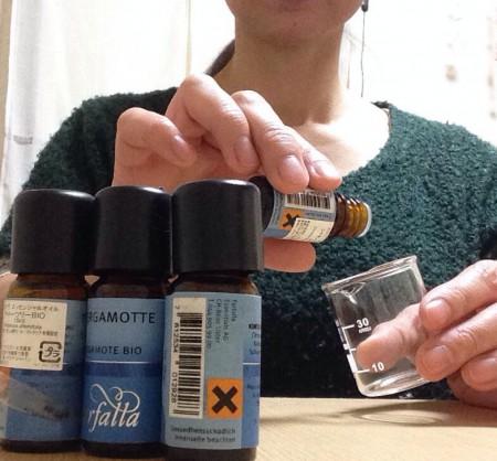 精油(エッセンシャルオイル)ブレンド方法