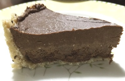 手作りアボカドチョコタルト