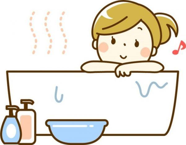 お風呂につかって血行促進