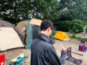 家族でキャンプストレス解消温泉付き